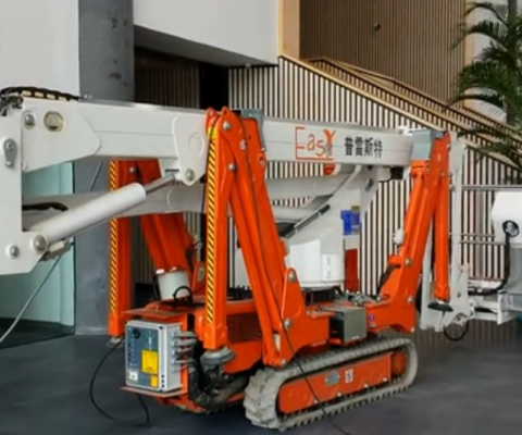 R210蜘蛛车蜘蛛机清华大学博物馆布展视频-